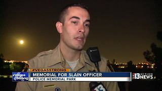 Las Vegas Police pay tribute to fallen officer