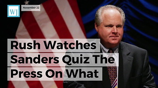 Rush Watches Sanders Quiz The Press On What They're Thankful For, That's When He Notices It... - Video
