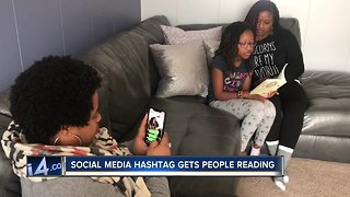 Social media hashtag gets people reading