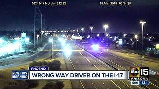 Wrong way driver stopped in Phoenix - Video