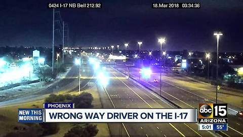 Wrong way driver stopped in Phoenix