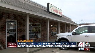 'Irreplaceable' vintage guitars stolen from Harrisonville store