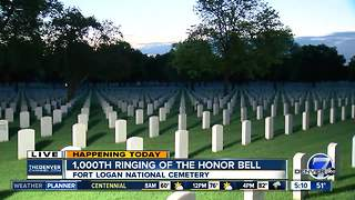 1000th ringing of honor bell at Ft Logan National Cemetery