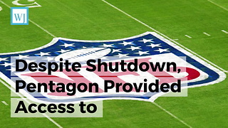 Despite Shutdown, Pentagon Provided Access to Championship Football Games for U.S. Troops - Video