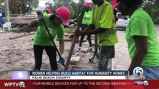 Women help build Habitat For Humanity homes in Palm Beach County - Video