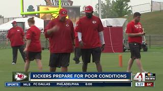 Chiefs kickers relish rainy weather challenge - Video