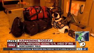 Local firefighters head to Florida ahead of Irma - Video