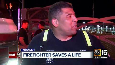 Phoenix firefighter saves a life