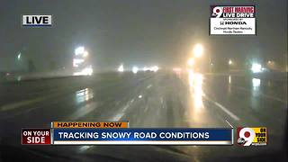 Tracking snowy road conditions - Video
