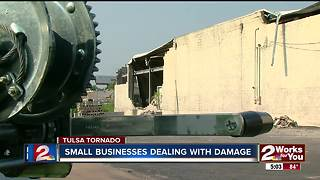 Small businesses deal with damage