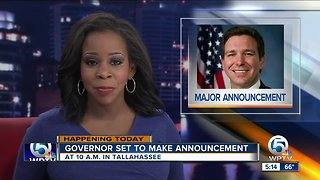 Gov. DeSantis to make another 'major announcement' Tuesday morning - Video