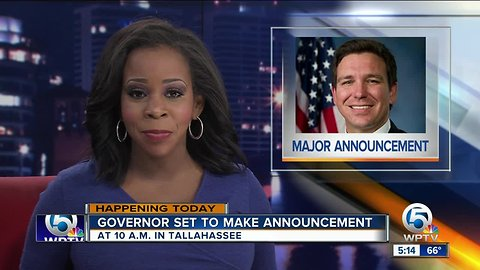 Gov. DeSantis to make another 'major announcement' Tuesday morning
