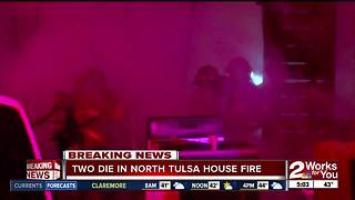 Two die in house fire in north Tulsa - Video
