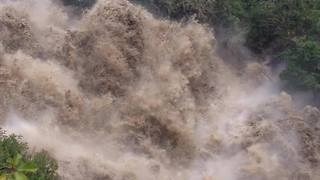 Treacherous Rapids Form as Rain Floods San Francisco River in Gualaceo - Video