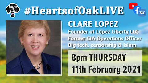Clare Lopez, former CIA operations Officer, discusses, Big Tech, Censorship and Islam 11.2.21
