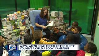 WXYZ, WMYD come together for the Ig you Give A Child A Book Campaign - Video