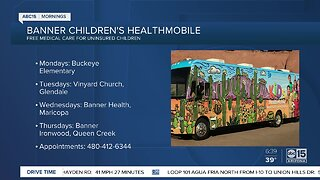 Mobile health clinic offers free care to uninsured kids