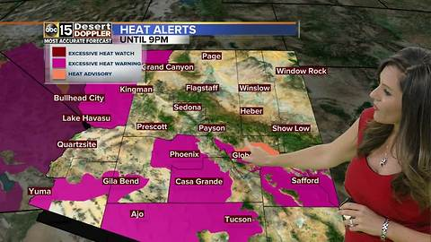 Weather Action Day: Excessive Heat Warning until 9 pm