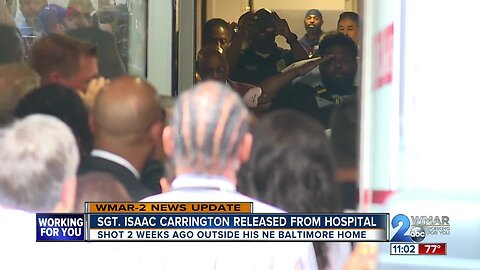 Baltimore Police Sgt. Isaac Carrington released from hospital