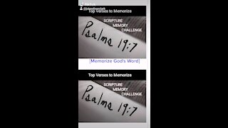 Top Verses To Memorize, Psalm 19:7