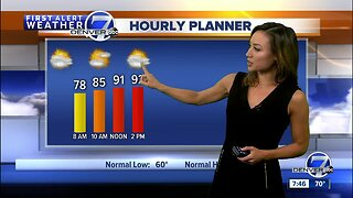 Warm, with scattered storms Sunday