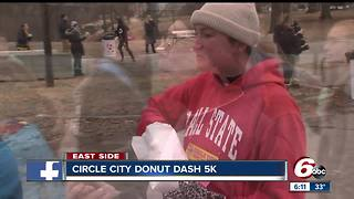 Running to support Teachers' Treasures while eating a dozen donuts - Video