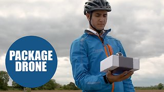 British scientists create first-ever drone that delivers packages straight into your hands - Video