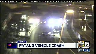 Person killed after multi-vehicle wreck on Loop 101 at US-60 - Video
