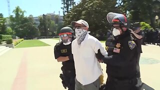Several protesters detained at California capitol Friday