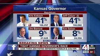 Tight race for Republican nomination for governor in KS - Video