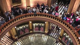 Protesters Fill Michigan's Capitol to Fight Republican Lame Duck Session - Video