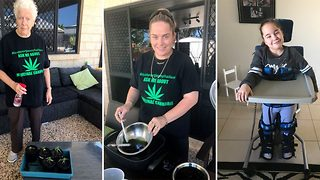 Aussie mum-of-four replaces brain-damaged nine-year-old daughter's medication with illegal cannabis she grows and cooks at home - Video