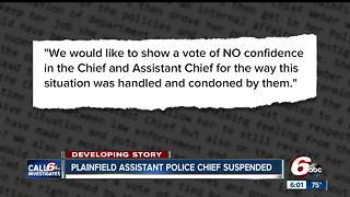 Plainfield police say assistant chief's suspension makes 'mockery' of alcohol policy - Video