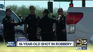 Teen hospitalized after robbery attempt in south Phoenix - Video