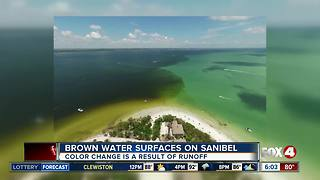 Brown water surfaces on Sanibel