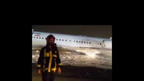 Plane Catches Fire During Landing at Tehran's Mehrabad Airport