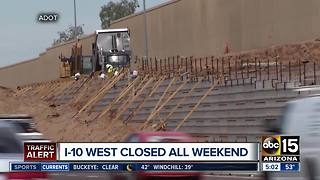I-10 West closures scheduled for South Mountain Freeway work - Video