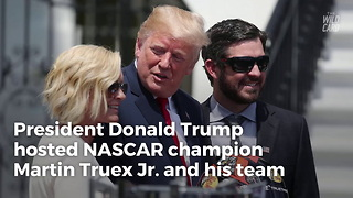 Trump Sticks It To NFL Again, Honors NASCAR Champ At White House - Video