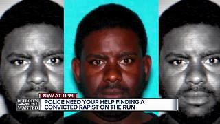 Detroit's Most Wanted: Lajuan Jemison is a convicted rapist who cut his tether - Video