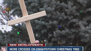 More crosses on Knightstown Christmas tree - Video