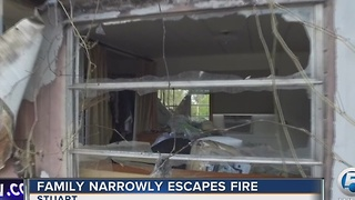 Family narrowly escapes fire - Video