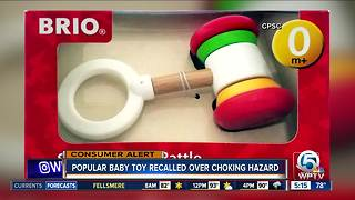 Baby rattle recalled for choking hazard - Video