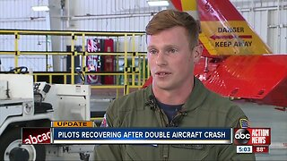 Pilots recovering after double aircraft crash