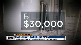 I-Team: Lawmakers fight over ways to curb 'assignment of benefits' abuse | WFTS Investigative Report - Video