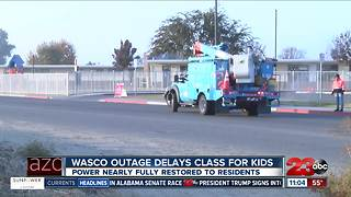 Power outage chills Wasco school - Video