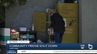 County shuts down community fridge in North Park