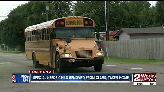 Special needs child removed from class, taken home - Video