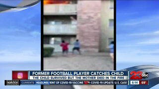 Check This Out: Former football player catches child thrown from burning building