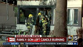 Candle believed to be cause of Phoenix house fire; investigation underway - Video