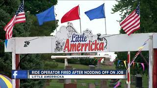 Little Amerricka amusement park operator fired after video shows him nodding off on the job - Video